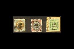 "1912 ""35 ORE"" Surcharges Complete Set, SG 131/133, Fine Used. (3 Stamps) For More Images, Please Visit Http://www.sandaf - Danemark"