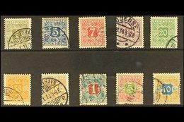 NEWSPAPER 1907 Complete Set, Watermark Crown, SG N131/N140, Very Fine Used. (10 Stamps) For More Images, Please Visit Ht - Danemark