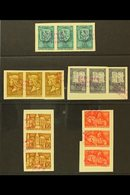 1940 ARCHIVE SPECIMENS 1940 Birthday Of King Matthias Complete Set, Michel 633/637, In Strips Of Three Affixed To Archiv - Hongrie