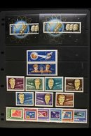 """1962-64 NEVER HINGED MINT COLLECTION OF """"SPACE"""" ISSUES. An Attractive, ALL DIFFERENT Collection ( With Many Perforated & - Hongrie"""