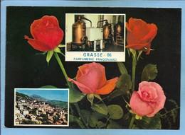 Grasse (06) Vieille Ville Distillation De La Rose à La Parfumerie Fragonard 2 Scans Roses - Grasse