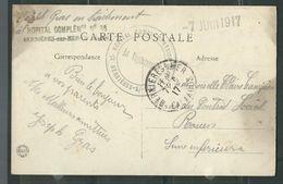 FRANCE 1917 CPA Illustrée Hopital Complémentaire De Berniéres S/Mer - Marcophilie (Lettres)