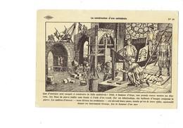 Cpa - Histoire De France - Construction D'une Cathédrale - Métier Maçon échafaudage Tailleur Architecte  Dessin CARLIER - Artisanat