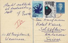 Netherlands Uprated Postal Staionery Ganzsache Entier WASSENAAR 1964 HOTEL KREUZ Luzern Schweiz Switzerland (2 Scans) - Ganzsachen