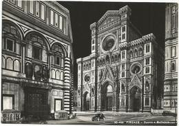 W1364 Firenze - Duomo E Battistero - Notturno Notte Nuit Night Nacht Noche - Auto Cars Voitures / Non Viaggiata - Firenze