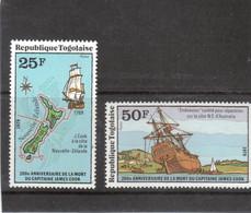 VV8 - TOGO PO 944 / 945 ** MNH 1979 - James COOK  En NOUVELLE ZELANDE Et Carénage De L' ENDEAVOUR Botany Bay - - Togo (1960-...)