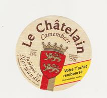 ETIQUETTE DE CAMEMBERT LE CHATELAIN CLAUDEL - Cheese