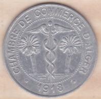 Algérie , Chambre De Commerce D'Alger ,10 Centimes 1918 , Aluminium - Algérie