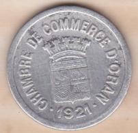 Algérie , Chambre De Commerce D'Oran , 10 Centimes 1921 , Aluminium - Algeria