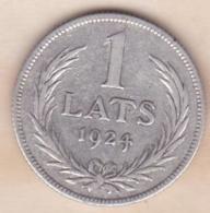 Lettonie. 1 Lats 1924 , En Argent . KM# 7 - Lettonie