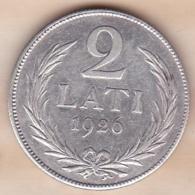 Lettonie. 2 Lati 1926 , En Argent . KM# 8 - Lettonie