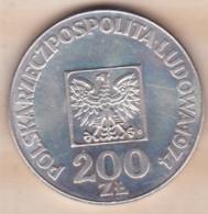 Pologne 200 Zlotych 1974 ,30 Anniversaire De La République. Y#. 72 , En Argent - Pologne