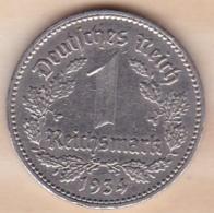 1 Reichsmark 1934 J (HAMBOURG), En Nickel - [ 4] 1933-1945 : Third Reich