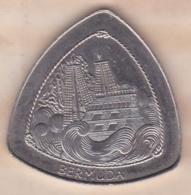 Bermude 1 Dollar 1997 - Elizabeth II Wreck Of The Sea Venture KM# 95 , En Copper-nickel - Bermudes