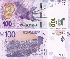 ARGENTINA    100 Pesos    P-New    ND (2018)    UNC  [sign. Sandleris - Michetti] - Argentina