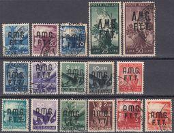TRIESTE ZONA A - 1947/1948 - Lotto Di 16 Valori Usati: Yvert 1/16. - 7. Triest