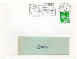 LOIRE ATLANTIQUE - Dépt N° 44 = GUEMENE PENFAO 1961 = FLAMME SUPERBE =  SECAP  Illustrée  'PECHE CAMPING FORET' - Postmark Collection (Covers)