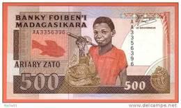 Billet - MADAGASCAR - 500 Francs / 100 Ariary  De 1988 - Pick 71 - Madagascar