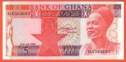GHANA - 5 Cédis  Du  02 01 1980  - Pick 19 - Ghana