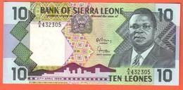 Billet - SIERRA  LEONE - 10 Leones Du 27 04 1988  Pick 15 - Sierra Leona