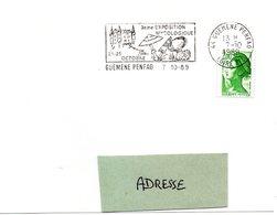 LOIRE ATLANTIQUE - Dépt N° 44 = GUEMENE PENFAO 1989 = FLAMME Type II =  SECAP  Illustrée  'Exposition Mycologique' - Postmark Collection (Covers)