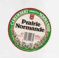 ETIQUETTE DE CAMEMBERT  CLAUDEL  PRAIRIE NORMANDE 50 L - Cheese