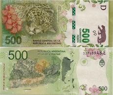 ARGENTINA    500 Pesos    P-365    ND (2016)    UNC  [suffix E - Sign. Sturzenegger - Michetti] - Argentina