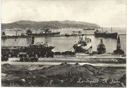 W1368 La Spezia - Il Porto - Barche Boats Bateaux Navi Ships / Viaggiata 1957 - La Spezia