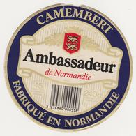 ETIQUETTE DE CAMEMBERT  CLAUDEL  50 L   AMBASSADEUR - Cheese