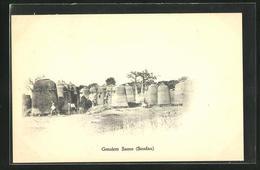 CPA Soudan, Greniers Samo - Cartes Postales
