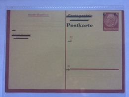 GERMANY Hindenberg Pre-paid Stationary Card With Overprint - Allemagne