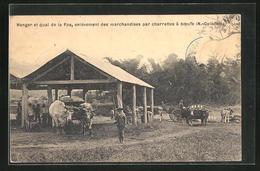 AK Nouvelle-Calédonie, Hangar Et Quai De La Foa - Ansichtskarten