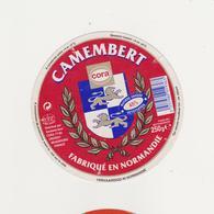ETIQUETTE DE CAMEMBERT  CLAUDEL  50 453  POUR  CORA - Cheese