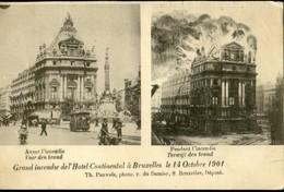BRUXELLES :  Incendie Hôtel Continental 1901 - Cafés, Hôtels, Restaurants