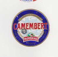 ETIQUETTE DE CAMEMBERT  CLAUDEL  50 L  POUR MONTORVAL CARTON - Cheese