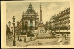 """BRUXELLES :   Monument Anspach (d""""après Un Tableau ...) - Monuments, édifices"""