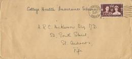 31956. Carta HARROGATE (Yorkshire) 1937 To St Andrews - 1902-1951 (Kings)
