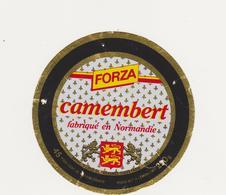 ETIQUETTE DE CAMEMBERT  CLAUDEL  50 L  POUR  FORZA - Cheese