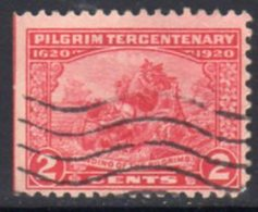 USA 1920 Pilgrim Fathers Tercentenary Of Landing 2c Carmine, U, SG 557 - Stati Uniti