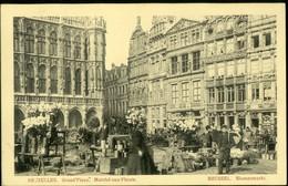 BRUXELLES :    Grand'Place Marché Aux Fleurs  -- Blumenmarkt - Places, Squares