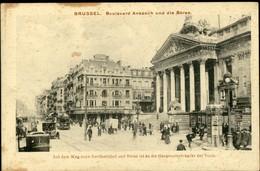 BRUXELLES :  Bd Anspach Und Die Börse - Marktpleinen, Pleinen