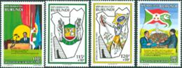 BURUNDI 1994 - Démocratie Au Burundi - 4 V. - Burundi