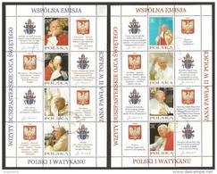 POLONIA - 2004 Papa GIOVANNI PAOLO II Emissione Congiunta Con Vaticano 2 Foglietti Usati - Papi