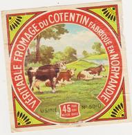 ETIQUETTE DE FROMAGE DU COTENTIN CLAUDEL PONT HEBERT 50 O PETIT MODELE - Cheese