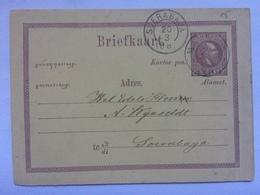 NETHERLANDS INDIES - 1885 Pre-paid Postcard Soerabaya Postmarks - Indes Néerlandaises