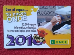 SPAIN CALENDARIO DE BOLSILLO CALENDAR 2010 ESPAGNE ONCE ORGANIZACIÓN NACIONAL CIEGOS NATIONAL ORGANIZATION FOR THE BLIND - Tamaño Pequeño : 2001-...