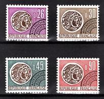 FRANCE  1964 / 1976 - SERIE Y.T. N° 130 A 133 - 4 PREO NEUFS** - Préoblitérés