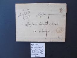 BASSES ALPES.POSTE RURALE.ANNOT.DE L'ISCLE.1840 - Marcophilie (Lettres)