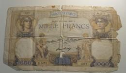 1931 - France - MILLE FRANCS, Cérès Et Mercure, Paris, Le 4 Aoüt 1932. U.  087  D.2072 - 1871-1952 Anciens Francs Circulés Au XXème