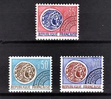 FRANCE  1964 / 1976 - SERIE Y.T. N° 127 A 129 - 3 PREO NEUFS** - Préoblitérés